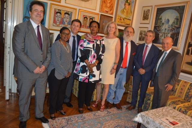 The Cabinet Secretary for Foreign Affairs of the Republic of Kenya, Ambassador (Dr.) Amina C. Mohamed, at the Hon. Consulate of Kenya.