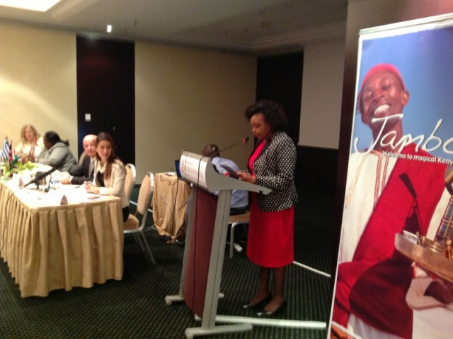 H.E. Mrs. Phyllis J. Kandie speaks at the tourism forum