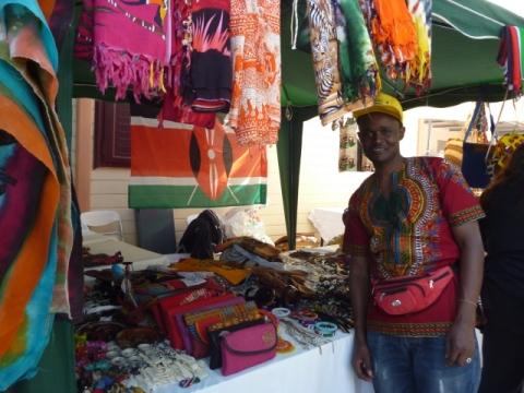 Το περίπτερο της Κένυας στο 17ο Αφρικανικό Φεστιβάλ.