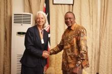 IMF's Managing Director Ms Christine Lagarde and H.E. President of the Republic of Kenya Uhuru Kenyatta