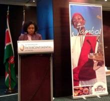 H.E. Mrs. Phyllis Kandie speaks at Hellas Kenya Business Forum